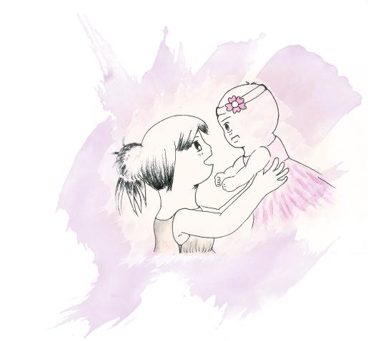 Peaceful days~ Akane and Mom by GudServo