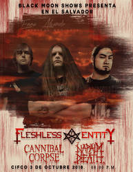 FLYER CANNIBAL, NAPALM Y FLESHLESS