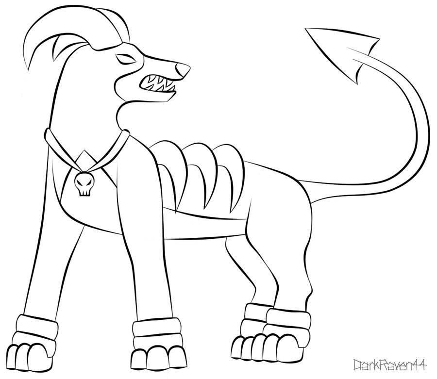 Coloring Pages Pokemon Houndoom Printable Laura Florand