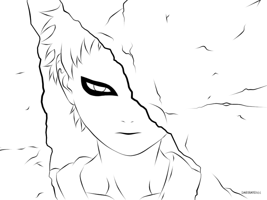 gaara coloring pages - photo#48