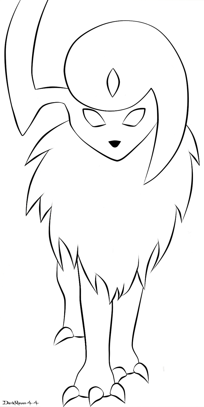 coloring pages absol - photo#22