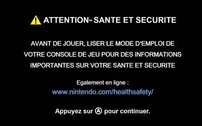 [WII BOOT FR] ATTENTION-SANTE ET SECURITE