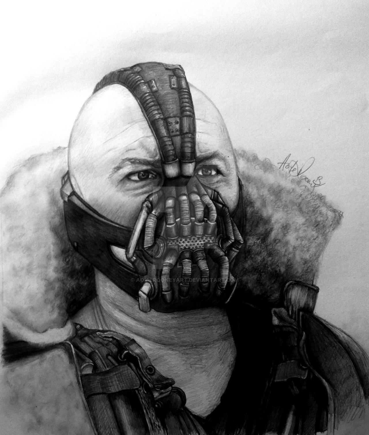 Bane pencil Portrait by AoifeRooneyArt on DeviantArt