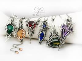 collection of necklaces III  Lunarieen UK