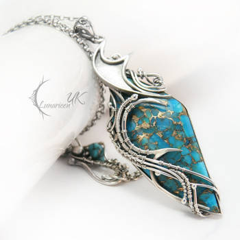 INTIAEELH - silver , turquoise and bronze