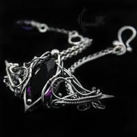 ENTIEERELH - silver and amethyst ( bracelet) by LUNARIEEN