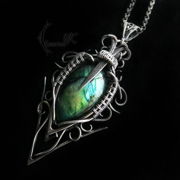 EXERTURH -silver and labradorite by LUNARIEEN