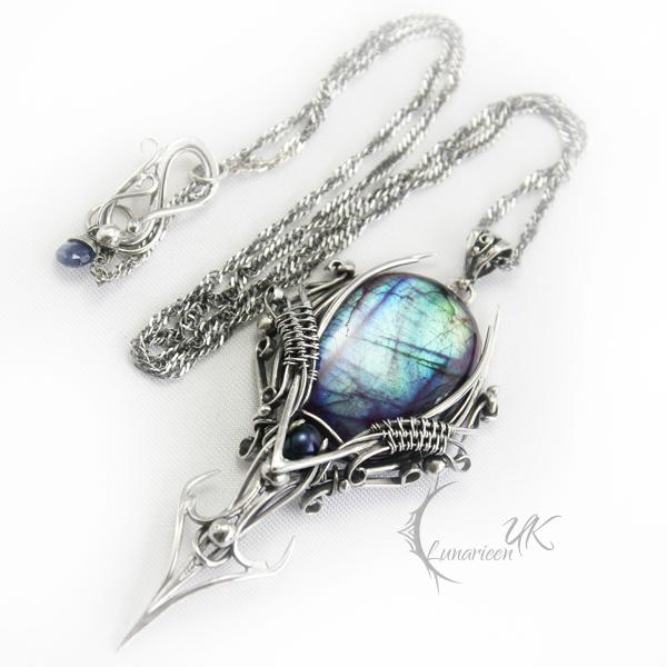 ELIVINTARH-silver,labradorite,black pearl,iolite by LUNARIEEN