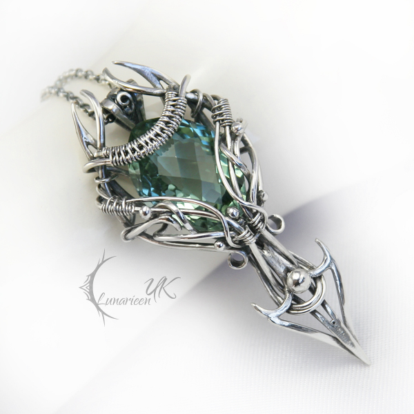 NINTURIEEL - silver and green amethyst by LUNARIEEN