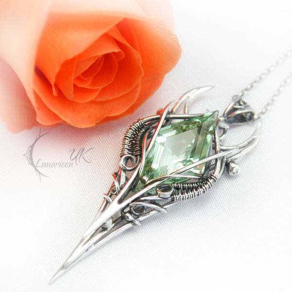 YSILTURN  - silver and green amethyst by LUNARIEEN