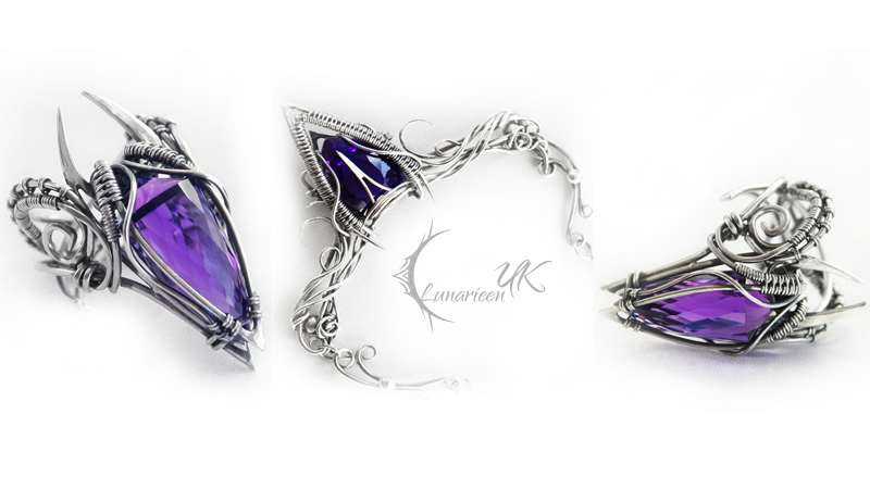 UVILMANHT - silver and amethyst ( set ) by LUNARIEEN