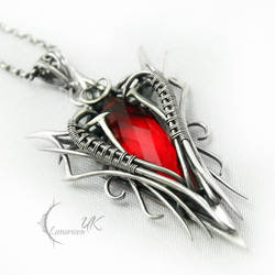 ANVINTARX  - silver and red quartz by LUNARIEEN