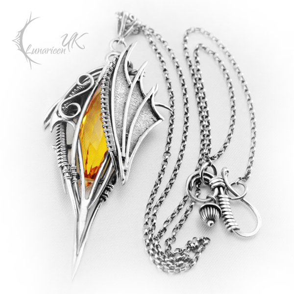 EZGHASTHUR - silver and citrine by LUNARIEEN