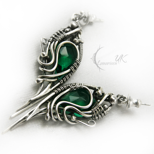 IZNAHSHI - silver and green quartz by LUNARIEEN