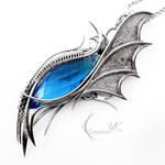 URLNGHAR - silver and blue topaz