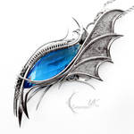 URLNGHAR - silver and blue topaz