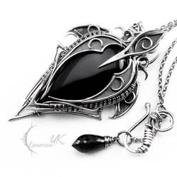 YZANDRIELL - silver and black onyx by LUNARIEEN