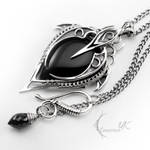 LUNTIRNEX - silver and black onyx