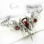ARNARGNAH - silver , red quartz , garnet.