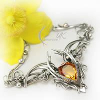 SHEEYNAHT  - silver , citrine and quartz by LUNARIEEN