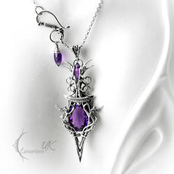 QUATHOR - silver and amethyst by LUNARIEEN