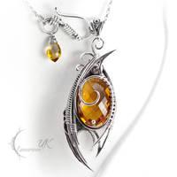 ENZTIAREL - silver and citrine by LUNARIEEN