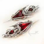 ETERNIXTUS - silver , red quartz , garnet