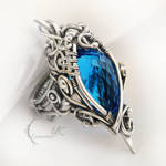 MANHTRILH  - silver and blue quartz ( ring )