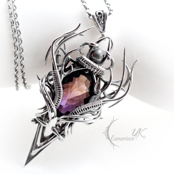 CRAAGHNAR - silver and ametrine. by LUNARIEEN