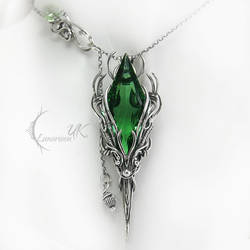 APSINTUQ - silver and green quartz by LUNARIEEN