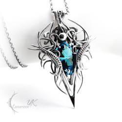 ZYNDHARN - silver and topaz. by LUNARIEEN