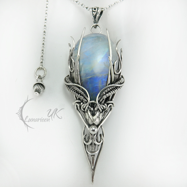 NARHDUQ - silver and moonstone by LUNARIEEN