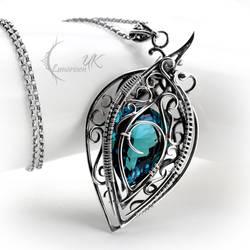 NARHZAR - silver and blue topaz