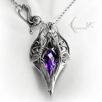 XAGTHYR - silver and amethyst by LUNARIEEN