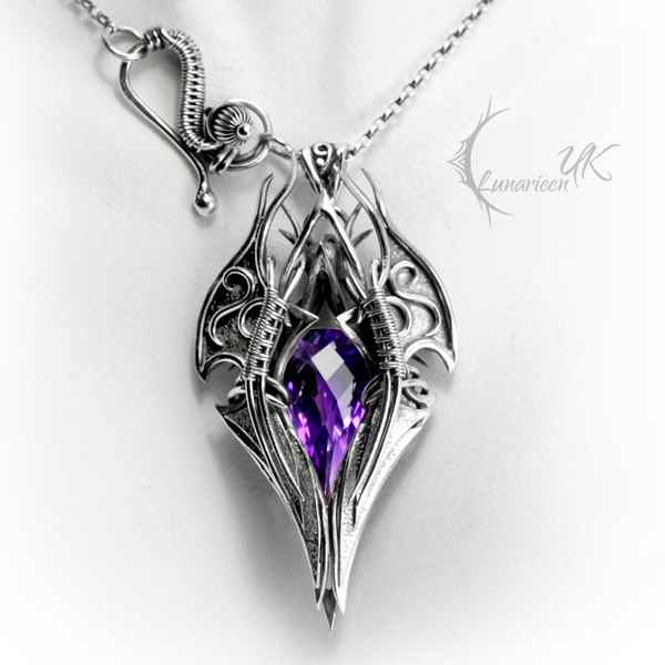 XAGTHYR - silver and amethyst by LUNARIEEN