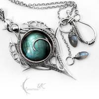 LITRHRIL - silver and labradorite by LUNARIEEN