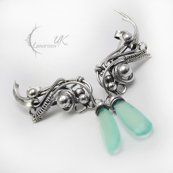 EXELTUVINH - silver and chalcedony by LUNARIEEN