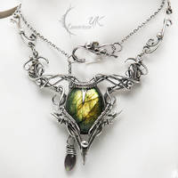 ARCARHTIAL - silver and labradorite by LUNARIEEN