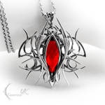 URAGHARN - silver and red quartz.