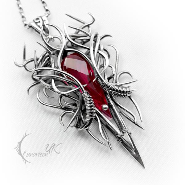 ZIRTHNYR - silver and red quartz. by LUNARIEEN