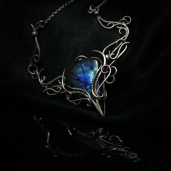 IHTMA - silver and labradorite by LUNARIEEN