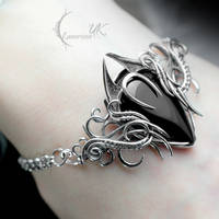 XYCTRIS - silver, black onyx, black spinel by LUNARIEEN