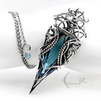 DHZARNH  - silver, blue quartz by LUNARIEEN