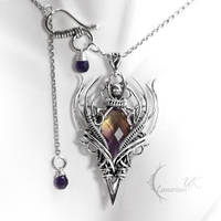 QHAZNAR - silver and ametrine by LUNARIEEN
