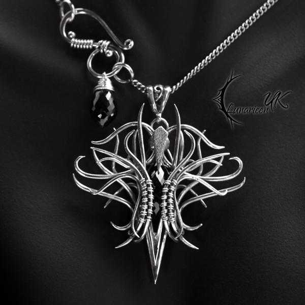 QUARTHNAR - silver and black spinel by LUNARIEEN