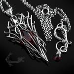 XAQGNAAR - silver and red quartz