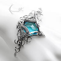 IZYRNIALL - silver and blue quartz by LUNARIEEN