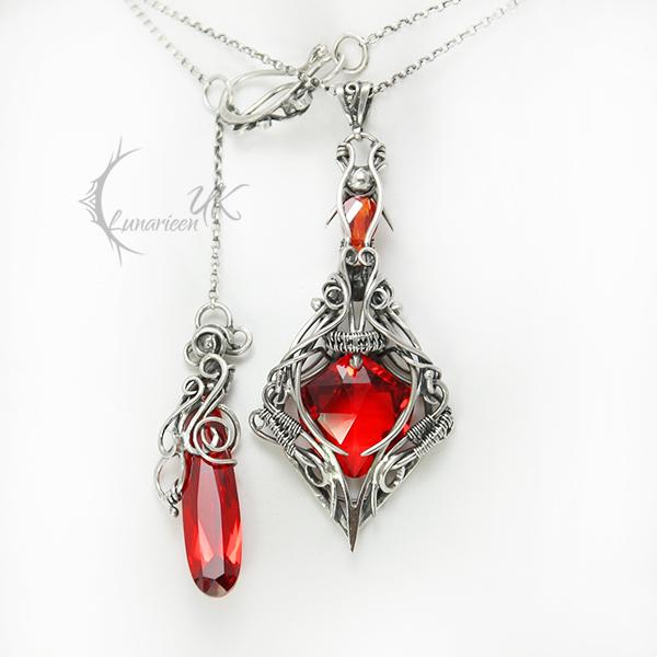 ENVIRTIEELH - silver , quartz , zircon by LUNARIEEN