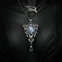 ESSENHTIUM - silver , moonstone , chalcedony
