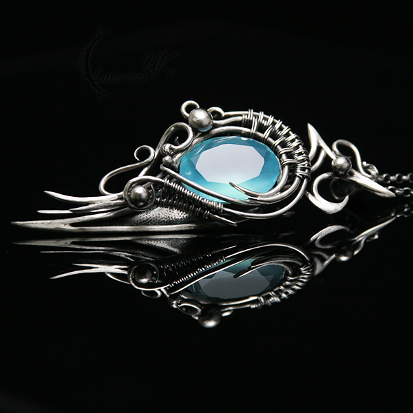 AQEENIEELH - silver and chalcedony by LUNARIEEN